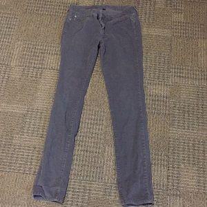Gap Premium skinny gray corduroy  pants